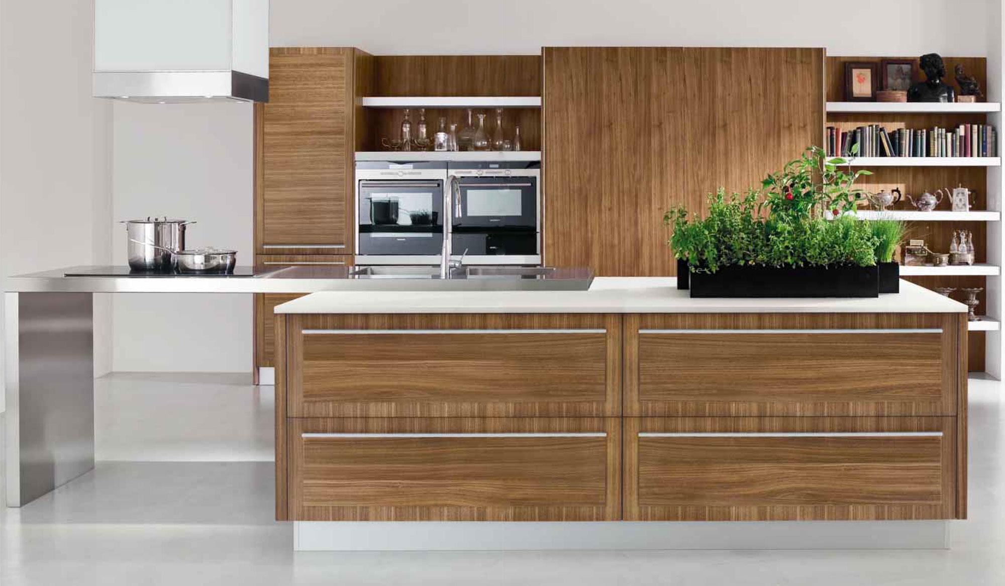cucine moderne su pavimento grigio | madgeweb.com idee di interior ... - Cucine Moderne A Legna