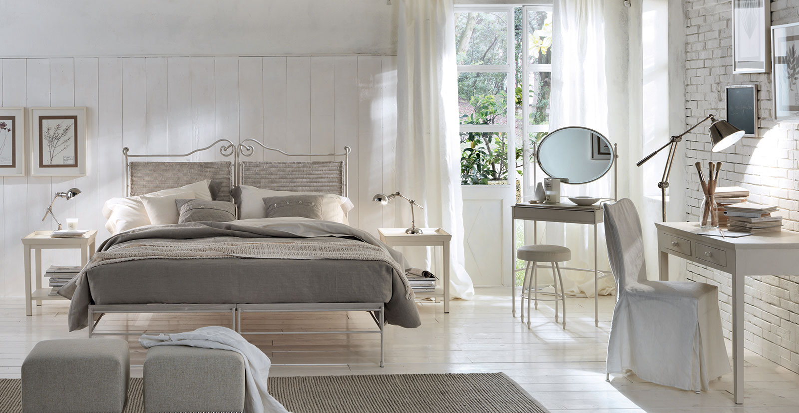 Letto matrimoniale country by91 regardsdefemmes - Camerette stile country chic ...
